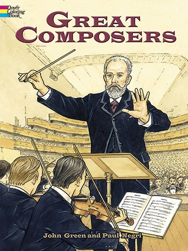 9780486462141: Great Composers (Dover History Coloring Book)