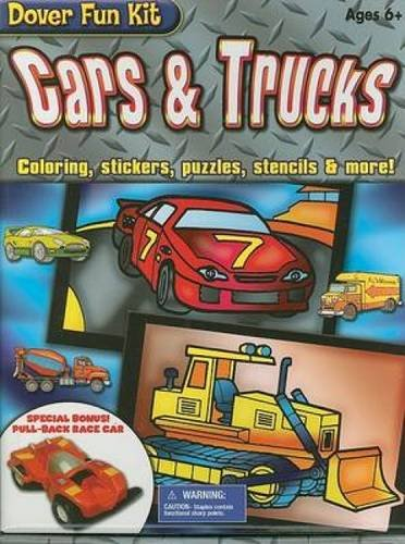 9780486466361: Cars & Trucks: Coloring, Stickers, Puzzles, Stencils & More! (Dover Fun Kit)