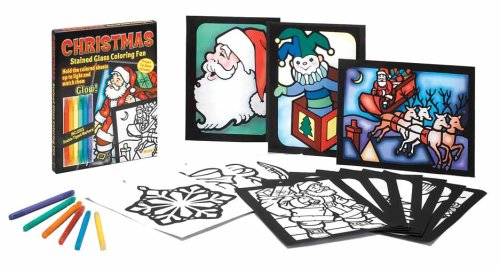Christmas Stained Glass Coloring Fun (Colouring Books): Dover