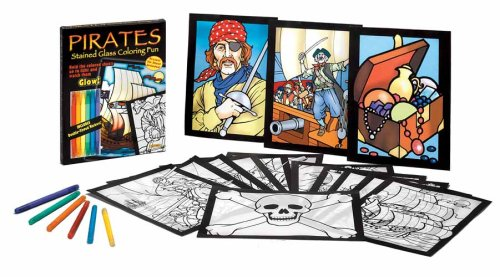 Pirates Stained Glass Coloring Fun (0486466523) by Dover