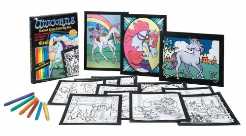 9780486466538: Unicorns Stained Glass Coloring Fun (Stained Glass Colouring Books)