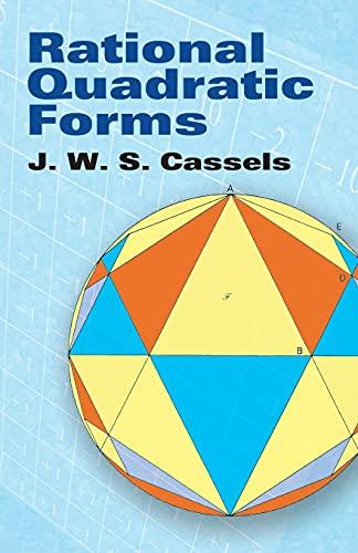 9780486466705: Rational Quadratic Forms (Dover Books on Mathematics)