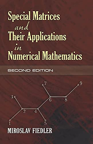 9780486466750: Special Matrices and Their Applications in Numerical Mathematics: Second Edition (Dover Books on Mathematics)