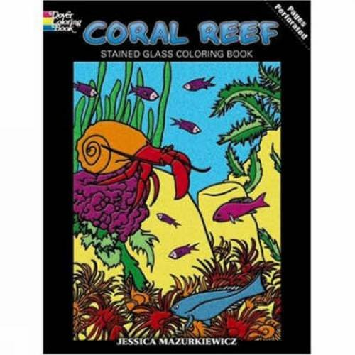 9780486467894: Coral Reef Stained Glass Coloring Book (Dover Nature Stained Glass Coloring Book)