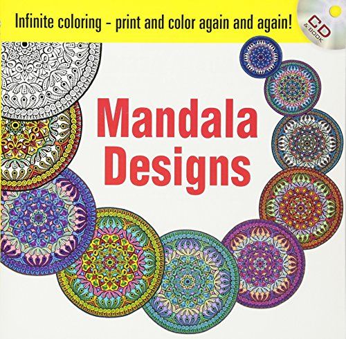 Infinite Coloring Mandala Designs CD and Book