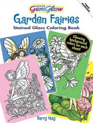 9780486471464: Garden Fairies GemGlow Stained Glass Coloring Book (Dover Stained Glass Coloring Book)