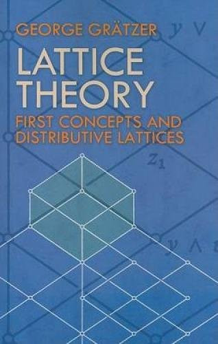 9780486471730: Lattice Theory: First Concepts and Distributive Lattices (Dover Books on Mathematics)