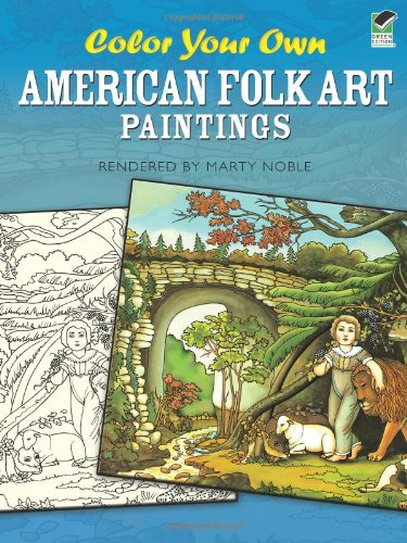 9780486472386: Color Your Own American Folk Art Paintings (Dover Art Coloring Book)