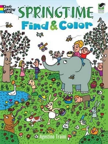 9780486473369: Springtime Find and Color (Dover Children's Activity Books)