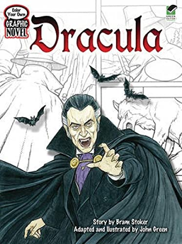 9780486474144: Color Your Own Graphic Novel DRACULA (Dover Classic Stories Coloring Book)