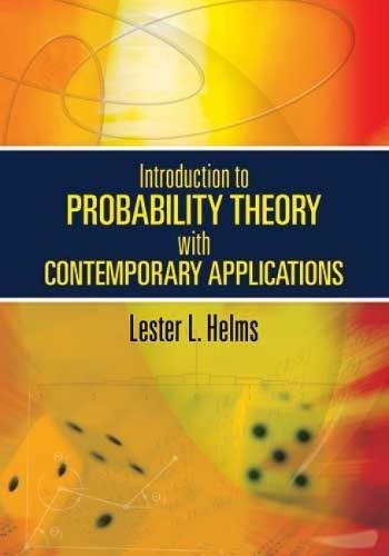 9780486474182: Introduction to Probability Theory with Contemporary Applications (Dover Books on Mathematics)