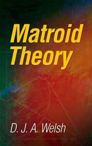 9780486474397: Matroid Theory (Dover Books on Mathematics)