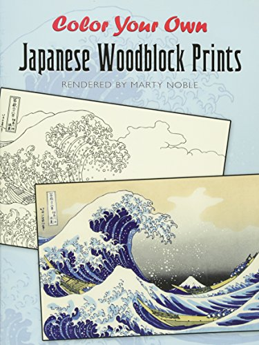 9780486476513: Color Your Own Japanese Woodblock Prints (Dover Art Coloring Book)