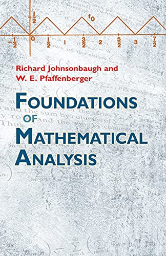 9780486477664: Foundations of Mathematical Analysis (Dover Books on Mathematics)