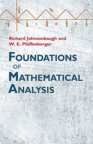 9780486477664: Foundations of Mathematical Analysis (Dover Books on Mathematics)