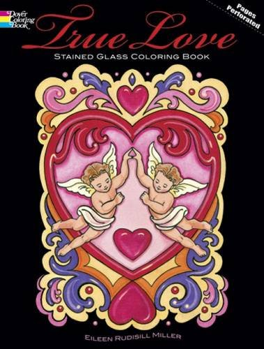 9780486478357: True Love Stained Glass Coloring Book