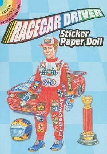 Racecar Driver Sticker Paper Doll (Dover Little: Petruccio, Steven James
