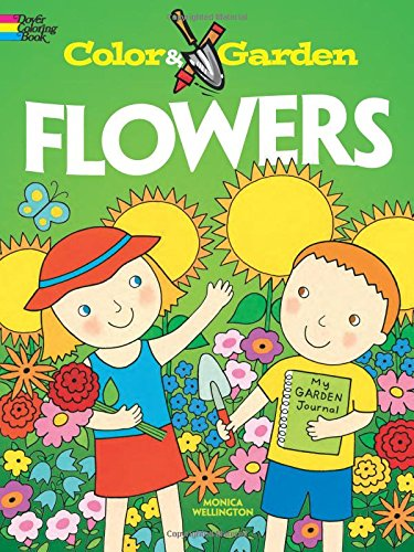 9780486478609: Color & Garden FLOWERS (Dover Coloring Books)