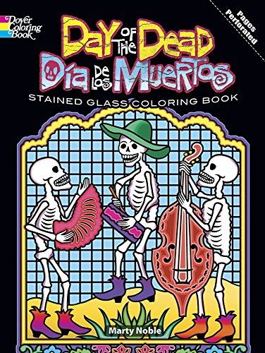 9780486480336: Day of the Dead/Dia de los Muertos Stained Glass Coloring Book (Dover Stained Glass Coloring Book)