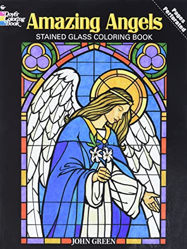 9780486480473: Amazing Angels Stained Glass Coloring Book (Dover Stained Glass Coloring Book)