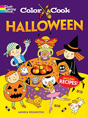 9780486481067: Color & Cook Halloween (Dover Coloring Books)