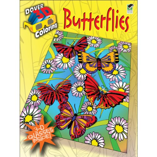9780486481616: 3-D Coloring Book--Butterflies (Dover 3-D Coloring Book)