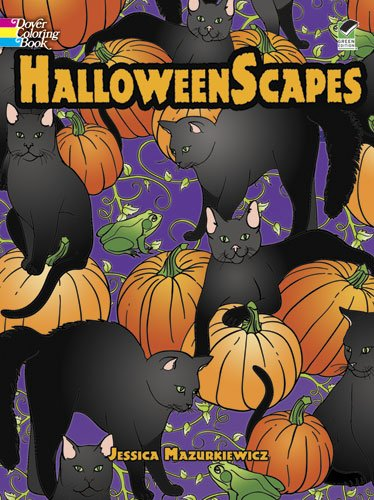 9780486481791: Halloweenscapes (Dover Holiday Coloring Book)