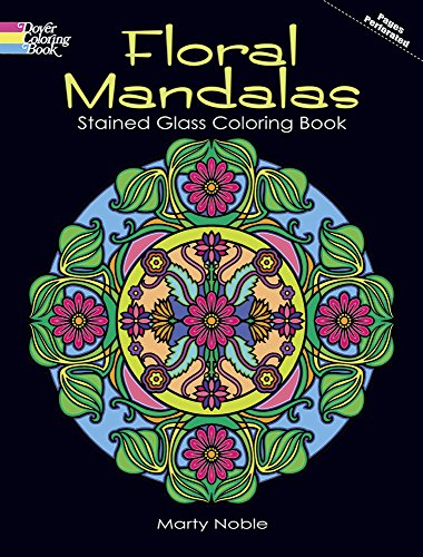 9780486483122: Floral Mandalas Stained Glass Coloring Book (Dover Design Stained Glass Coloring Book)