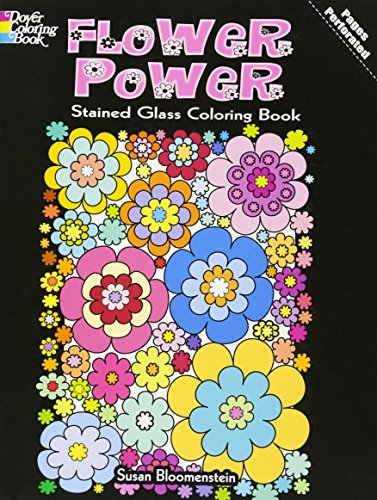 9780486483894: Flower Power Stained Glass Coloring Book