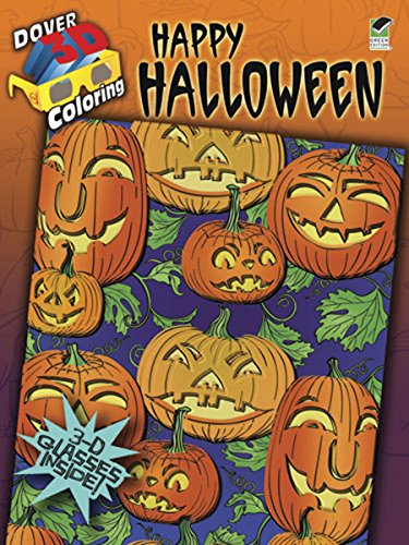 9780486484112: 3-D Coloring Book--Happy Halloween (Dover 3-D Coloring Book)