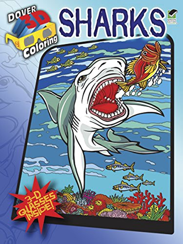 9780486484266: Dover Publications Sharks Coloring Book 3D (Dover 3-D Coloring Book)
