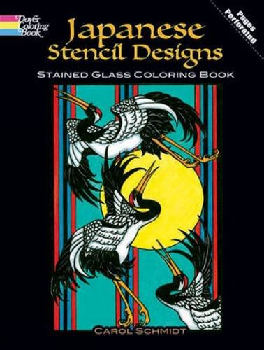 9780486485041: Japanese Stencil Designs Stained Glass Coloring Book