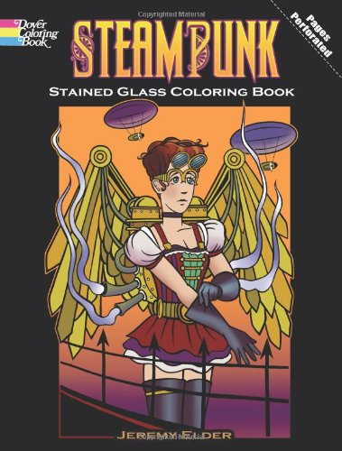 9780486485782: Steampunk Stained Glass Coloring Book