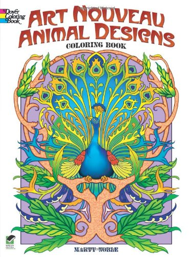 9780486488387: Art Nouveau Animal Designs Coloring Book (Dover Coloring Books)