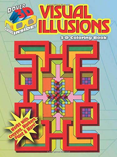 9780486489261: 3-D Coloring Book--Visual Illusions (Dover 3-D Coloring Book)