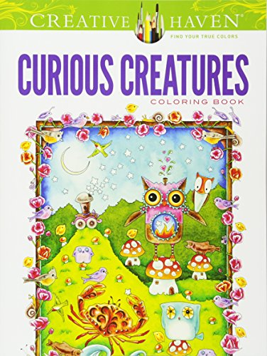 9780486492698: Creative Haven Curious Creatures Coloring Book (Adult Coloring)