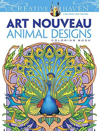 9780486493107: Dover Creative Haven Art Nouveau Animal Designs Coloring Book (Adult Coloring)