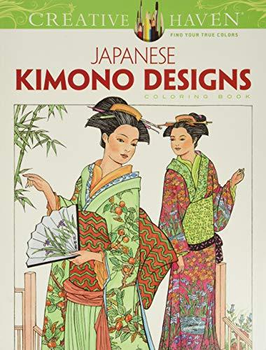 9780486493442: Creative Haven Japanese Kimono Designs Coloring Book (Adult Coloring)