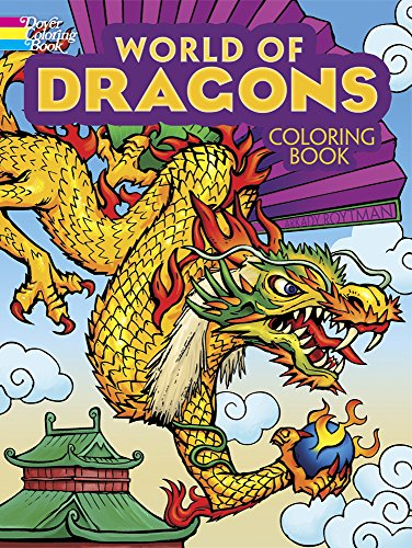 World Of Dragons Coloring Book Dover Roytman Arkady