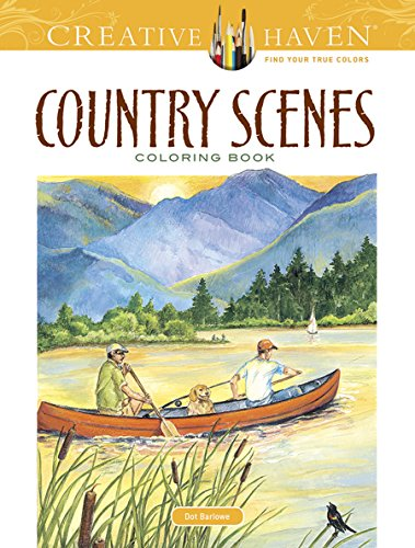 9780486494555: Creative Haven Country Scenes Coloring Book (Adult Coloring)