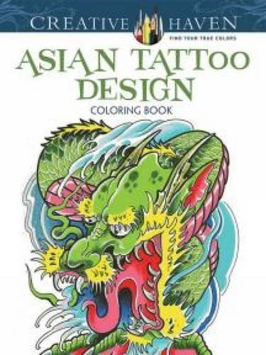 9780486494579: Asian Tattoo Design Coloring Book