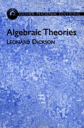 9780486495736: Algebraic Theories (Dover Books on Mathematics)