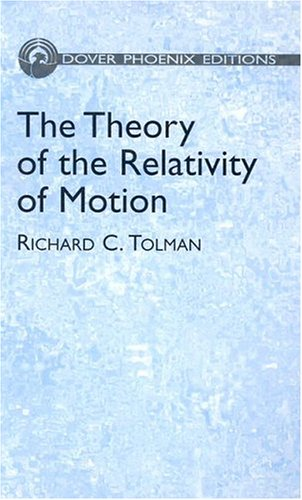 9780486495941: The Theory of the Relativity of Motion (Dover Phoenix Editions) (Vol i)