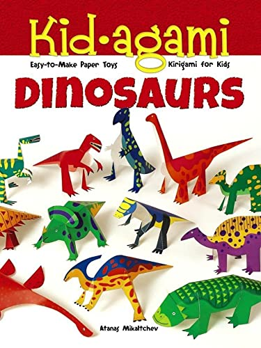 9780486497433: Kid-agami - Dinosaurs: Easy-to-Make Paper Toys: Kirigami for Kids
