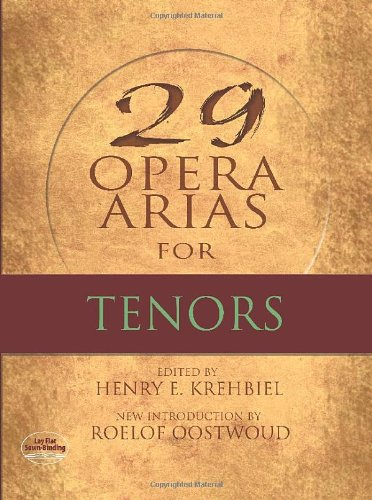 9780486497501: 29 Opera Arias for Tenors (Dover Opera and Choral Scores)