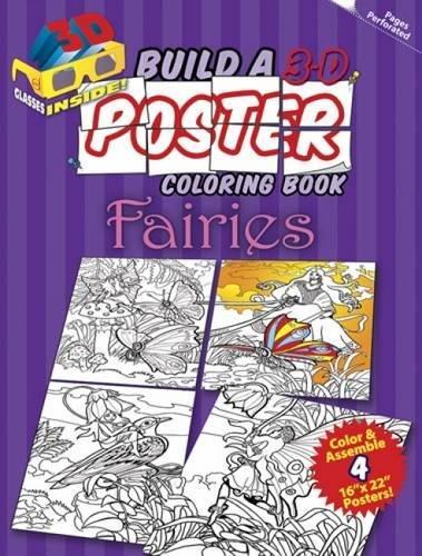 9780486498300: Build a 3-D Poster Coloring Book - Fairies (Dover 3-D Coloring Book)