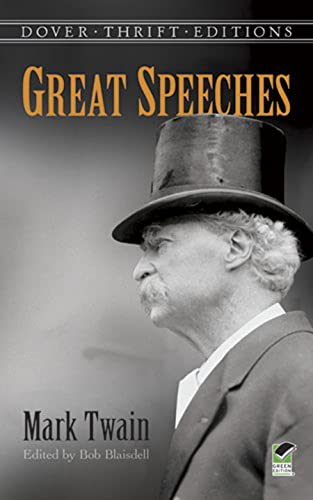 Great Speeches by Mark Twain (Dover Thrift: Mark Twain