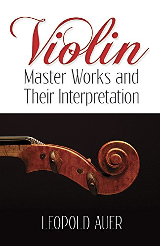 9780486499116: Violin Master Works and Their Interpretation (Dover Books on Music)