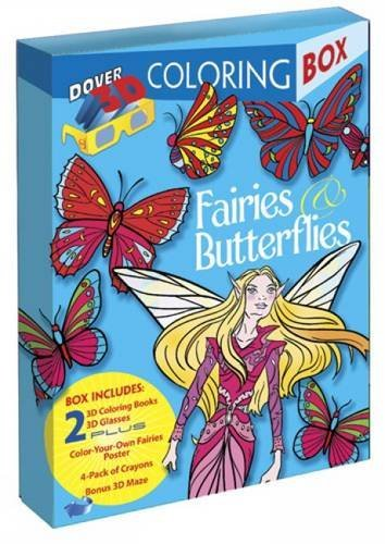 9780486499697: Fairies and Butterflies 3-D Coloring Box (Dover Fun Kits)