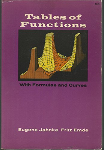 9780486601335: Tables of Functions With Formulas and Curves